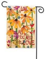 "18"" x 12"" Mini All You Need Is Love Flag"