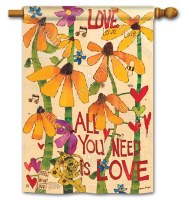 "40"" x 28"" All You Need Is Love Flag"