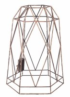 """16"""" Metal LED Hexagon Cage With Timer"""