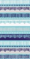 "9"" x 5"" Mediterranean Multicolor Pattern Paper Guest Towels"
