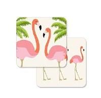 "Ten Pack of 4"" Flamingo Coasters"
