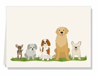 "Pack of 10 4X6"" Dog Gift Note Cards"