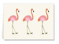 "Pack of 10 4X6"" Flamingo Gift Note Cards"