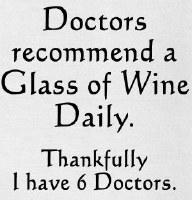 "26"" x 16"" Doctors Recommend Wine Kitchen Towel"