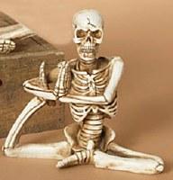 """6"""" Polyresin Leg Up Posing Yoga Skeleton"""