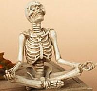"""6"""" Polyresin Lotus Posing Yoga Skeleton"""