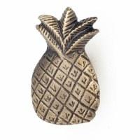 "2"" Distressed Brass Finish Pineapple Pull"