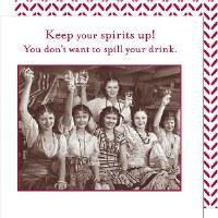 "5"" Square Keep Spirits Up Paper Beverage Napkins"