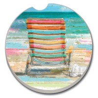 "3"" Round Beach Day Chair Car Coaster"
