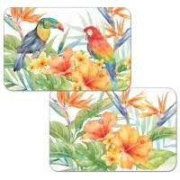 "11"" x 17"" Reversible Tropical Birds Placemat"