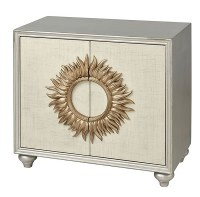 """32"""" Silver and Gold Two Door Sun Cabinet"""
