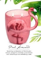 15 oz. Pink Flamingo Pink Lemonade Scented Candle with Two Wicks