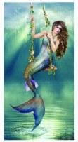 "24"" x 12"" Swinging Mermaid Wood Plaque"