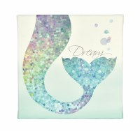 "12"" Square Mermaid Tail Dreams Canvas"