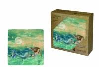 Set of Four Mermaid Sealife Ceramic Coasters