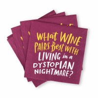 "5"" Square Wine Dystopian Nightmare Beverage Napkins"