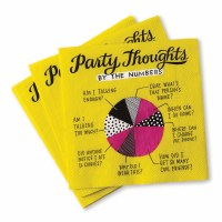 """5"""" Square Party Thoughts Beverage Napkins"""