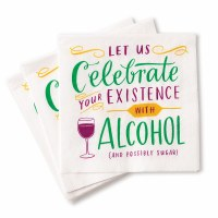 "5"" Square Celebrate Your Existence Beverage Napkins"