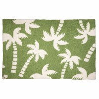 1 ft. 10 in. x 2 ft. 10 in. Green Beachy Palm Tree Rug