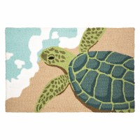1 ft. 10 in. x 2 ft. 10 in. Sea Turtle On Beach Rug