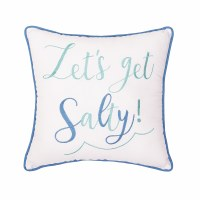 "16"" Square Let's Get Salty Embroidered Pillow"