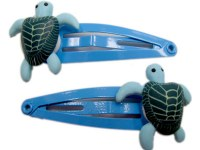 Set of 2 Green Turtle Hair Clips