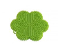 "5"" Green Flower Silicone Scrubber"