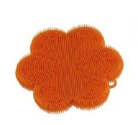 "5"" Orange Flower Silicone Scrubber"