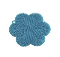 "5"" Blue Flower Silicone Scrubber"
