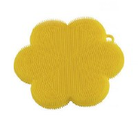 "5"" Yellow Flower Silicone Scrubber"