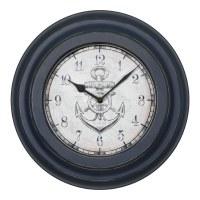 "14"" Round Navy Anchor Wall Clock"