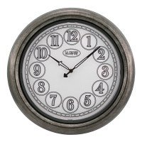 "18"" Round Silver Indoor and Oudoor LED Clock"