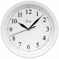 """10"""" Round White Wall Clock"""
