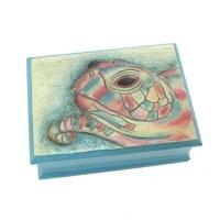 """5"""" x 7"""" Multi Colored Sea Turtle Box"""