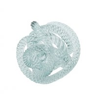 "5"" Light Blue Glass Knot Orb"