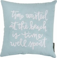 "12"" Square Time Wasted At The Beach Is Time Well Spent Pillow"