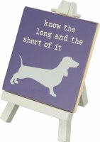 """3"""" Square Long and Short Easel Sign"""