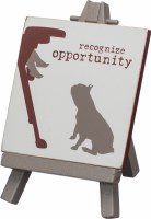 """3"""" Square Recognize Opportunity Easel Sign"""