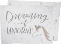 "21"" x 28"" Dreaming Of Unicorns Pillow Case"