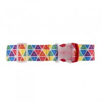 Rainbow Triangle Design Luggage Strap