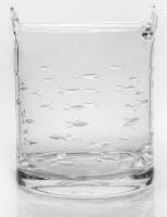 "7"" School of Fish Glass Ice Bucket"