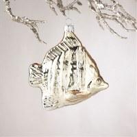"5"" Gold Angelfish Glass Ornament"