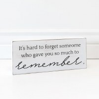 """4"""" x 10"""" White So Much To Remember Wood Plaque"""
