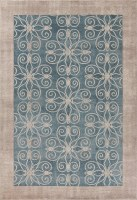"""7"""" x 5"""" Teal Looking Glass Winston Collection Rug"""