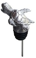 "5"" Stainless Steel Metal Embossed Turtle Wine Pourer"