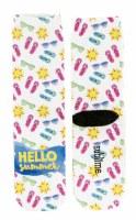 Multi Colored Hello Summer Crew Socks