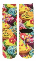 Multi Colored Cupcake Crew Socks