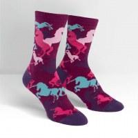 Pink and Purple Unicorn Socks