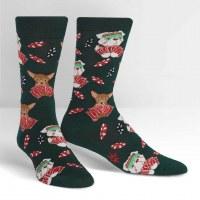 Dark Green Ruff Bluff Dog Socks