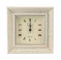 "6"" Square Sand Vintage Mantle Clock"